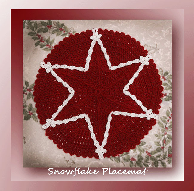 Free Crochet Patterns For Christmas Placemats : Snowflake Placemat - Crochet Placemat Patterns - Crochet ...