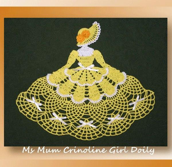 Ms Mum Crinoline Girl Doily Crochet Crinoline Doilies