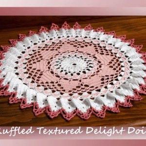 Ruffled Textured Delight Doily