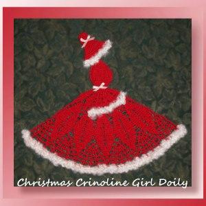 Christmas Crinoline Girl Doily