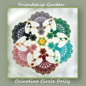 Friendship Garden Crinoline Circle Doily