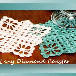Lacy Diamond Coaster