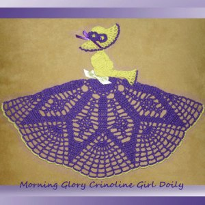 Morning Glory Crinoline Girl Doily