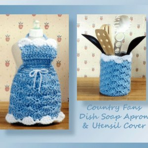 Country Fans Dish Soap Apron & Utensil Cover