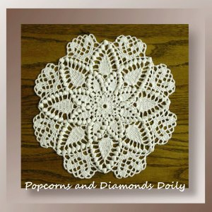 Popcorns and Diamonds Doily