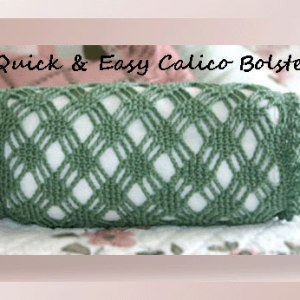 Quick & Easy Calico Bolster
