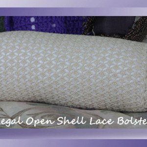 Regal Open Shell Lace Bolster