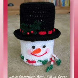 Jolly Snowman Bath Tissue Cover