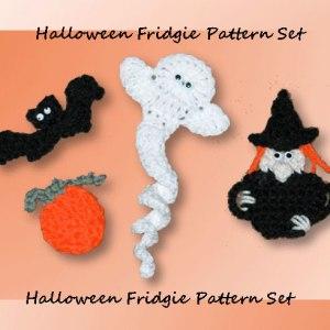 Halloween Fridgie Pattern Set