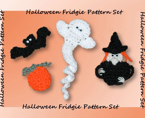 Halloween Fridgie Pattern Set  <br /><br /><font color=