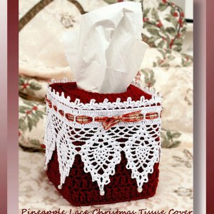 Pineapple Lace Christmas Tissue Cover