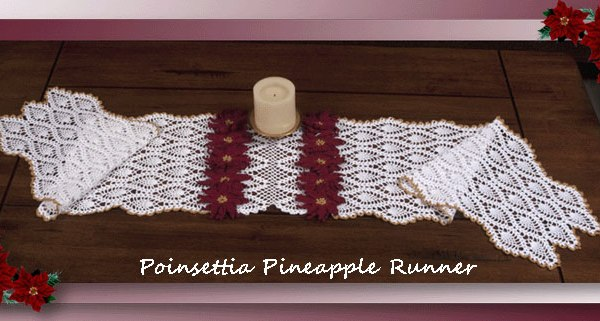 Poinsettia Pineapple Runner  <br /><br /><font color=