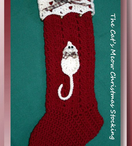 The Cat's Meow Christmas Stocking   <br /><br /><font color=