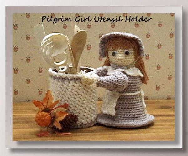 Pilgrim Girl Utensil Holder    <br /><br /><font color=