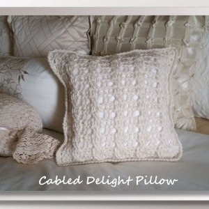 Cabled Delight Pillow