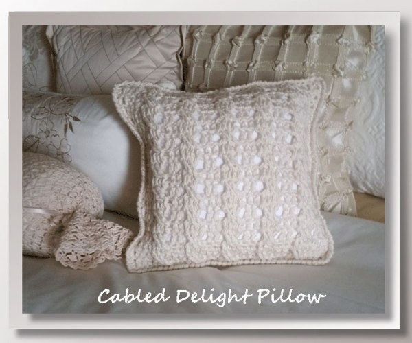Cabled Delight Pillow   <br /><br /><font color=