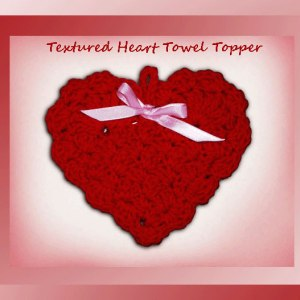 Textured Heart Towel Topper