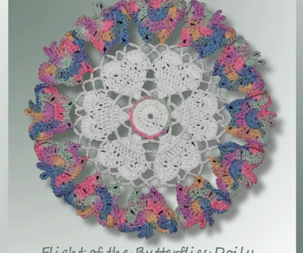 Flight of the Butterflies Doily <br /><br /><font color=