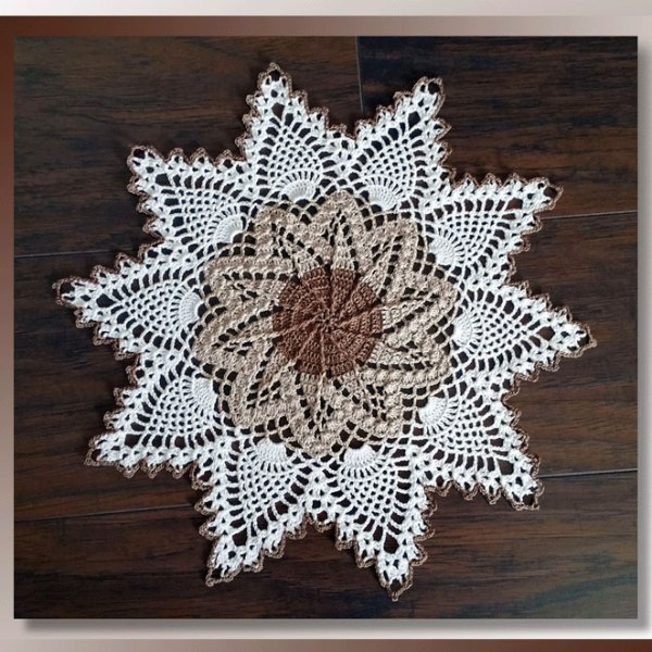 Facebook Crochet Patterns : Desert Sands Doily - Crochet Doily Patterns