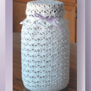 Lacy Fruit Jar Cover