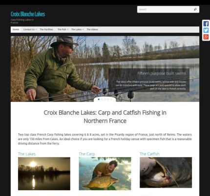 New Croix Blanche Lakes Website Screen shot