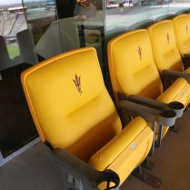 Plush custom-ASU seats are included in each of the new suites at Sun Devil Stadium.