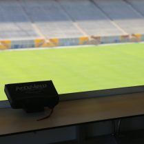 These AccuView monitors will be available for fans taking in the game from the Coach's Club drink rail.
