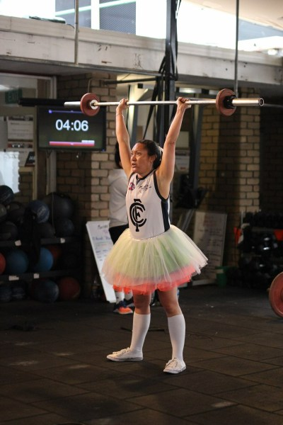 What better way to enjoy your Fitness than doing it in your tutu! Pania rocks it well! Pic: Angela Clancy.