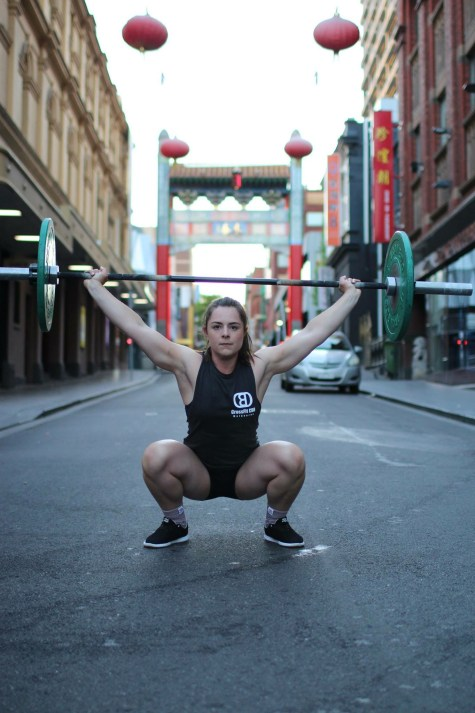 Steph hitting the streets of China Town! . Pic: Angela Clancy