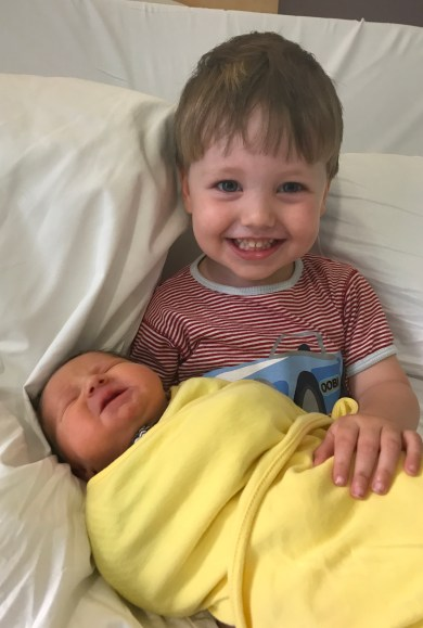 Coach in waiting Kieran taking care of his new little sister! Welcome to the CBD family Cara.