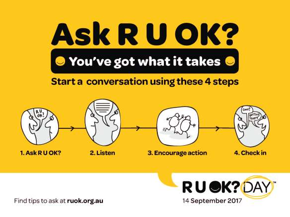 Today is R U OK? Day. Why not take a moment to get in touch with someone & see how they are?? . Don't forget this Saturday we will be doing the R U OK Day Community Fitness Challenge!!