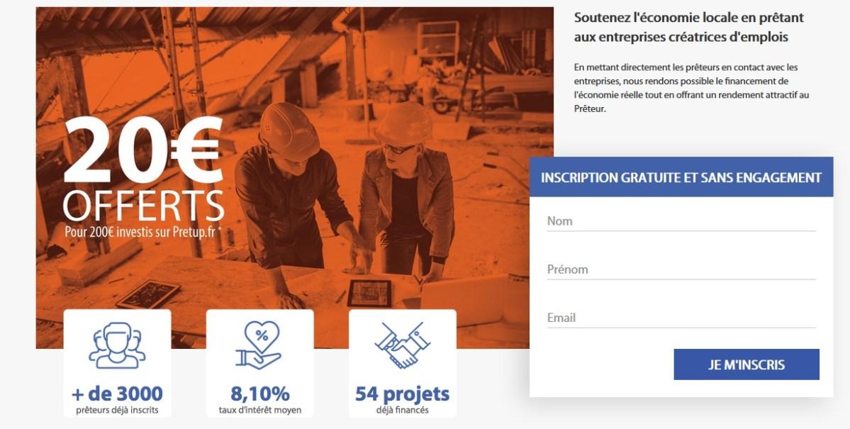 Bonus pretup 15€ offerts pour 200€ investis