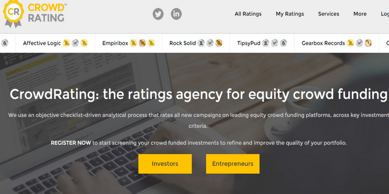 CrowdRating rating equity crowdfunding