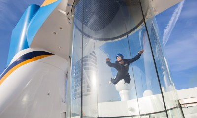Royal Caribbean International launches Quantum of the Seas, the newest ship in the fleet, in November 2014.  Ripcord by iFLY, A skydiving simulator
