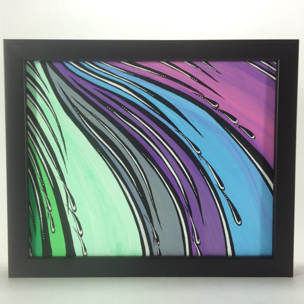 Colors_Dripping_Acrylic_on_Canvas_-_8x10_Painting_in_Black_Frame_by_Mark_Bray - 1