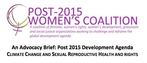 Post-2015 Women's Coalition-CC-SRHR