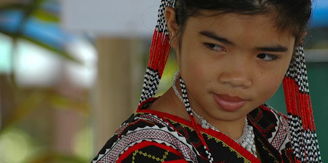 Filipino girl in traditional wear