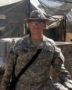 John Denson, PLA, ASLA In Baghdad, Iraq