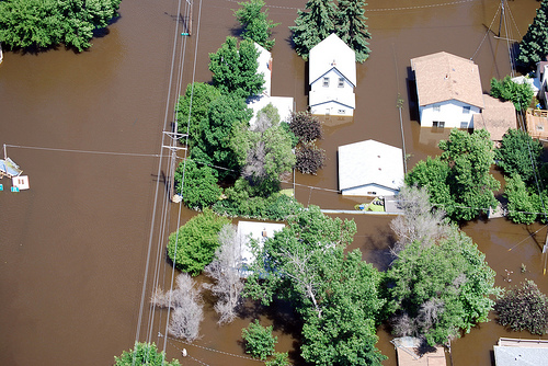 Aerial flooding in California - California Supplemental Exam for landscape architects CSE