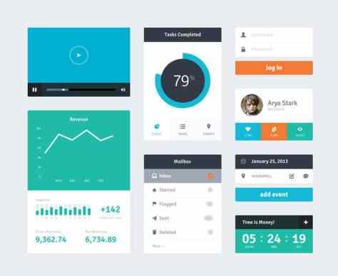 Flat-Widget-UI-Kit