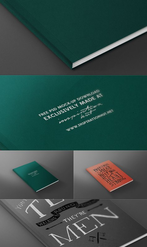FREE Magazine / Book Front Cover Mock-up Template PSD File