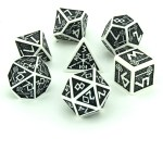 white and black dwarven dice