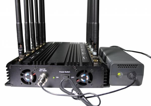 Disturbatore Jammer cellulari Jammer professionale per tutti i cellulari, GPS e VHF UHF a 12 bande 33W 4