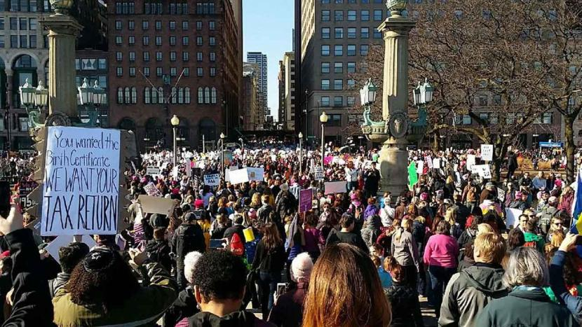 The Women's March at Grant Park, Chicago (Photo Credit: ABC 7 Chicago)