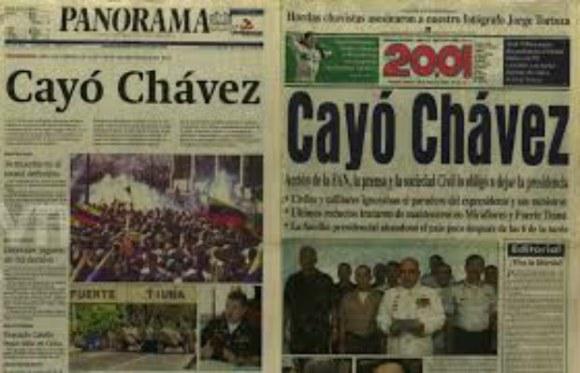 Diarios golpe Venezuela