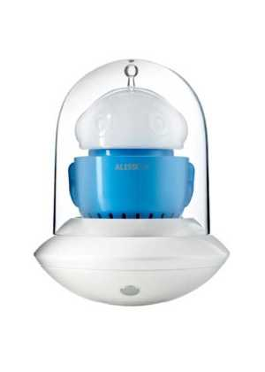 Alessi Ufo Portable Table Lamp White Blue