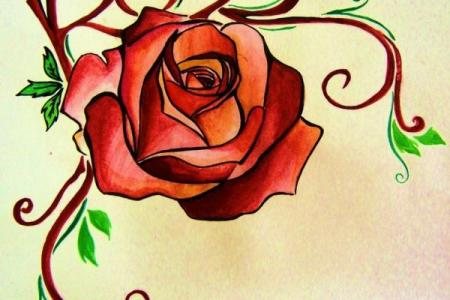 rose tattoo design by hamysart600 800