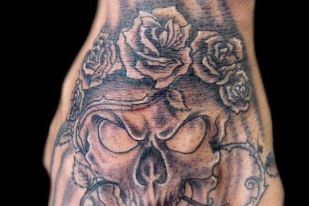 22 skull tattoo