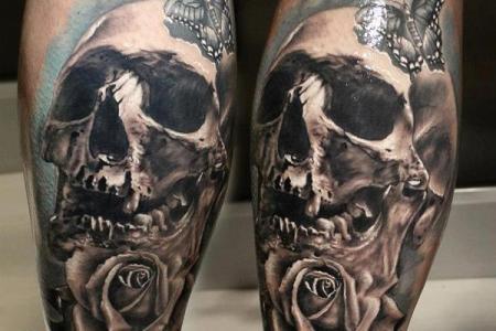 24 skull tattoo