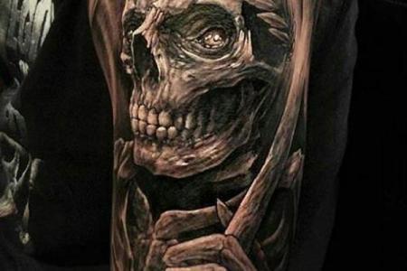 34 skull tattoo